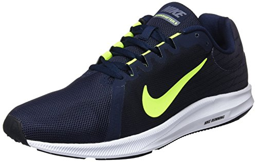 Nike Herren Downshifter 8 Sneakers, Mehrfarbig (Light Carbon/Volt/Obsidian/Black 007), 45 EU