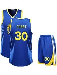 ZWXYA Camisa Aficionados Warriors Durant Jersey para Hombre 35 30 Niño,B30,L(
