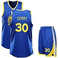 ZWXYA Camisa Aficionados Warriors Durant Jersey para Hombre 35 30 Niño,B30,20(