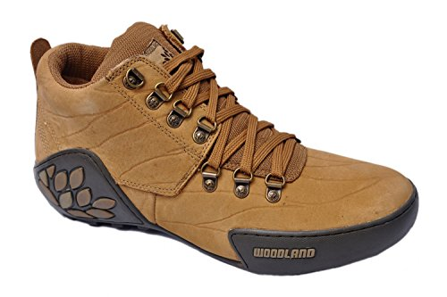 WOODLAND ORIGINAL MENS 1869115 CAMEL ADVENTURE CASUAL LACED FLAT SHOES  available at amazon for Rs.3396