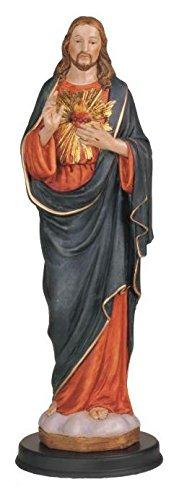 StealStreet SS-G-212.15 Sacred Heart of Jesus Holy Religious Figure Decoration Statue, 30cm (Religiou Statue)