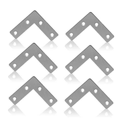 WINOMO 10stk L-Form Stahl Ecke spitzen Klammern Klammer fest Platte Connector Reparatur Blatt -