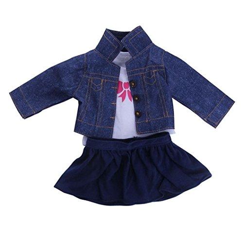 Ouneed Encantadora camisa de lujo jeans Vestido plisado...