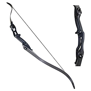 TOPARCHERY 40lbs Archery Takedown Recurve Bow Hunting Longbow Aluminum Alloy Riser