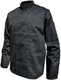 Veste de cuisine manches longues noire - 3XL, Noir
