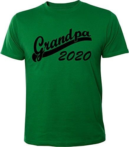 Mister Merchandise Herren Men T-Shirt Grandpa 2020 Tee Shirt bedruckt Grün