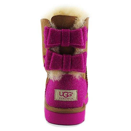Ugg Australia K Bailey Bow Wool Daim Botte d'hiver Noisette