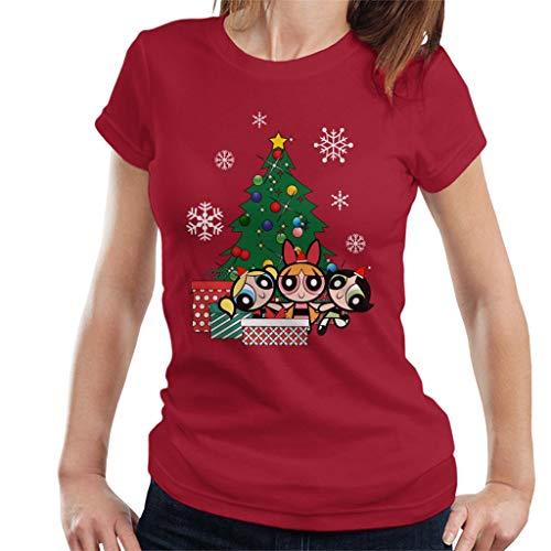 Powerpuff Girls Around The Christmas Tree Women's T-Shirt