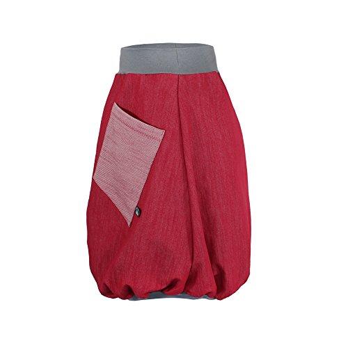Ballonrock PAULIZ – roter Damen Ballonrock aus Jeans - 2