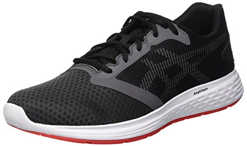 Asics Patriot 10 Zapatillas de Running Hombre, Multicolor Dark Grey/Red Alert 021, 44 EU