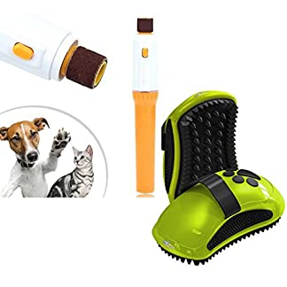 Set of FURminator Curry Comb for Dogs and Nail Grinder (Trimmer, Clipper, Electric Nail File Kit) Set of FURminator Curry Comb for Dogs and Nail Grinder (Trimmer, Clipper, Electric Nail File Kit) 417tQg5hp8L