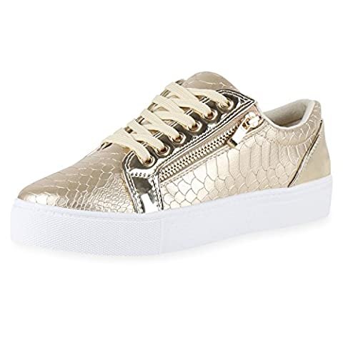 napoli-fashion , Sneakers Basses femme - or - or,