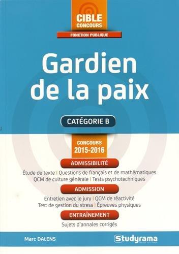 Gardien de la paix : Concours 2015-2016