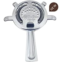 COCKTAIL STRAINER 4 PRONG-FILTRO 4 LINGUETTE Colore Argento Policarbonato e Molla in Stainless Steel 18/10 AISI 304 B006MS
