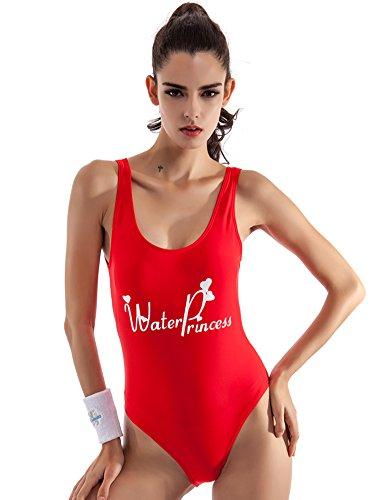 DATO Damen Bademode Triangel Bikini Einteilige Badeanzüge Rote