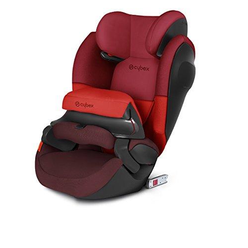 Cybex Silver Seggiolino Auto 2 in 1 per Bambini Pallas M-Fix SL, per Auto con e senza ISOFIX, Gruppo 1/2/3/9-36 kg, dai 9 Mesi ca. ai 12 Anni ca., rivestimento in poliestere, Rosso/Rumba Red