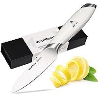Schälmesser Obst-Gemüsemesser Godmorn Küchen Messer 12 cm mit deutscher Klinge aus rostfreiem Stahl mit weißem Griff, Frucht und Gemüsehaut schälend Küchen Messer