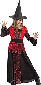 Carnival Toys Disfraz Bruja Negra con telaraña Rojas TG VII en Bolsa C/Gancho 686,, 8004761687601