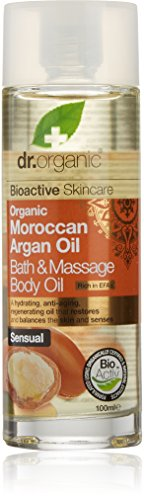 Dr. Organic Argan Bath Massage Body Oil, 100 ml, 1er Pack (1 x 100 ml) (Natural Bath Oil)