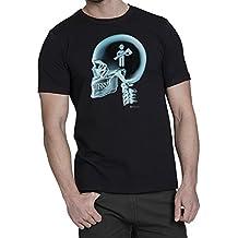 Fireman En El Cerebro X-Ray Camiseta para hombre bombero T-Shirt