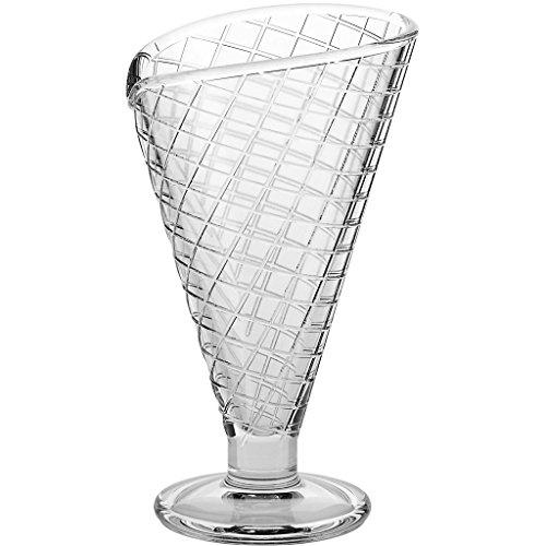 Copas de helado, Copas de vidrio, ~WAFFEL~ transparente, 16,5 cm, Vidr