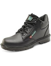 0e7e2784a B-Click Footwear - Calzado de protección de cuero para hombre negro negro