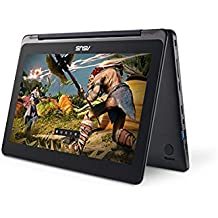 "ASUS Transformer Flip 11.6"" Touchscreen Laptop (Intel Dual Core Processor/ 2GB Memory / 32GB EMMC / Bluetooth 4.1 / Webcam / Dark Blue / Windows 10 Home 64-bit)"