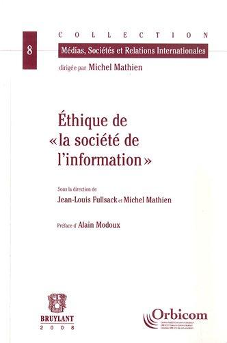 Ethique de la société de l'information