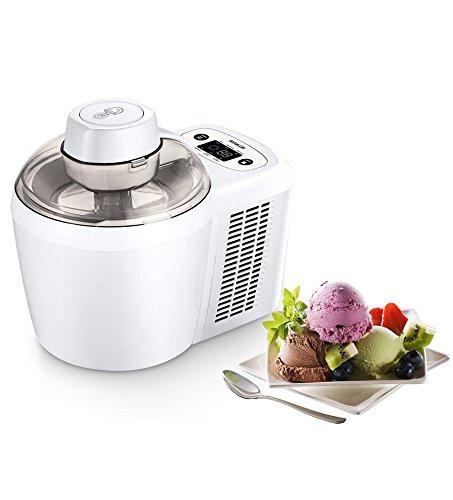 Ibywind YF700 Vollautomatische Thermoelektrische Eismaschine, LCD Display 0.7 Liter 120 Min. Eiscreme Milchshake Smoothies Jelly Maschine für Zuhause Kein Vorfrieren erforderlich