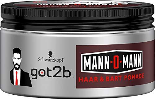 Schwarzkopf got2b Mann-O-Mann Haar&Bart Pomade 100ml für glänzende Styles Halt 3 -
