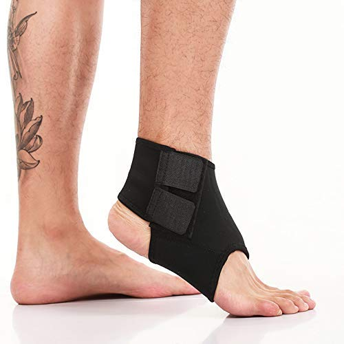 MARK AMPLE® Adjustable Double Strap Lightweight Ankle Support Brace Breathable Sleeves for Sports, Running Pain Relief for both Men and Women