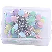 100pcs pines de Patchwork flores cabeza pines de costura Agujas para tejer (costura Quilting accesorios DIY Craft herramientas