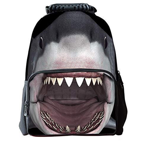 Chakil Schulrucksack Maedchen,Shark-Schultasche Rucksäcke Schulranzen Schultasche Tasche Travel Sport Outdoor Rucksack für Schüler
