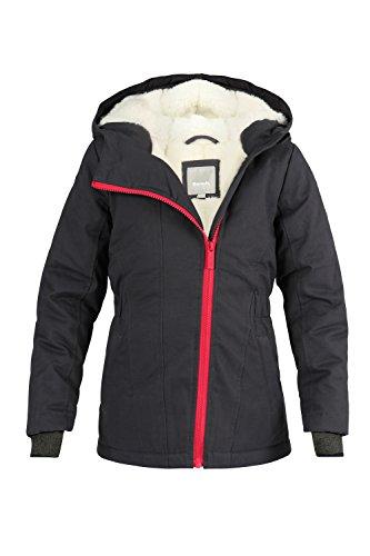 Bench Mädchen Jacke aus robustem Canvas, weich und warm gefüttert, grau-pink(NY019) 176 (Mädchen Winter Jacke)