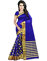 Best Collection Women`s Cotton Art Silk Saree With Blouse Piece