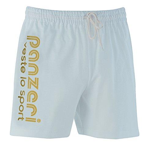 panzeri - UNI (A) - Shorts 100% cotone White - Gold