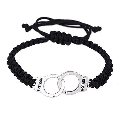 HDCooL Hand Knitted Alloy Handcuff Bracelet Silver