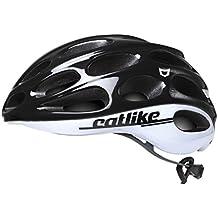 Catlike Olula Casco de Ciclismo, Unisex Adulto, Blanco (White Black), SM