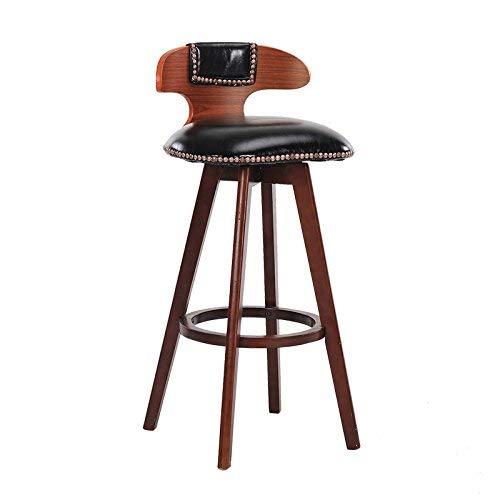 Chaise de Salle à Manger/siège de Bar,Chair Vintage Chaise pivotante en Bois Massif Tabouret Haut Room Salon/réception / Salon de beauté/Salon de Coiffure,70cm,* 04
