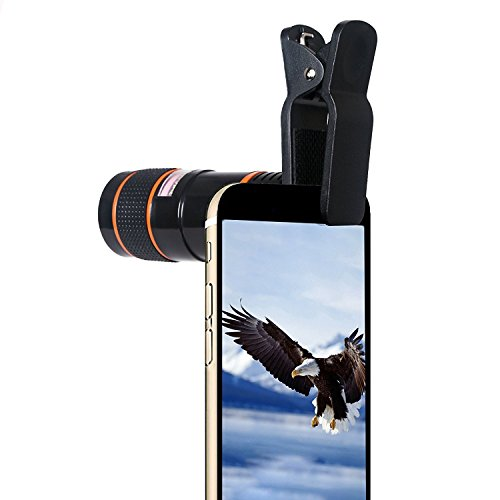 Lagom 8X Zoom Lens Telescope Universal Camera Lens - Black