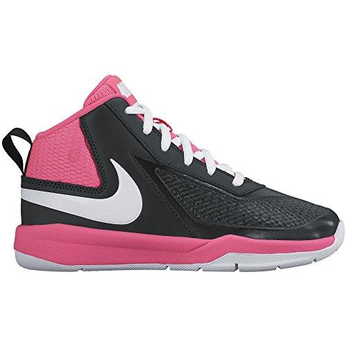 59d20b4b3fd Nike Boy s Team Hustle D 7 Basketball Shoe Black White Hyper Pink Size 11  Kids US