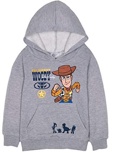 Disney Pixar Toy Story 4 Jungen Mädchen Kapuzenpullover, Kapuzenpullover mit Sheriff Woody, Buzz Lightyear Charaktere 2-8 Jahre Gr. 5-6 Jahre, grau