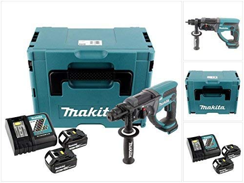 Makita DHR202RTJ - Martillo ligero 20mm 18V litio 5,0 Ah makpac