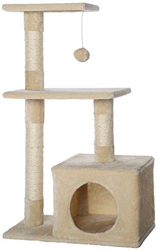 dibea KB00250 Kratzbaum, Kletterbaum für Katzen (Höhe 80 cm), beige