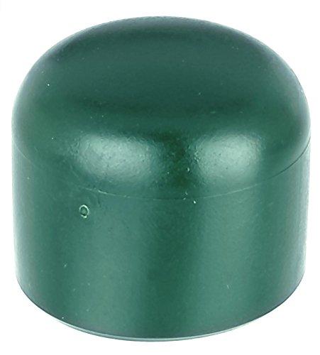*GAH-Alberts 654511 Pfostenkappe für runde Metallpfosten, grün, Ø34 mm / 20 Stück*