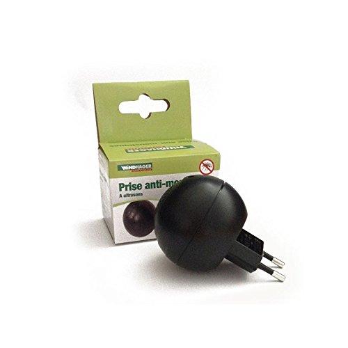 Windhager 01764 toma Provence Outillage-Aparato antimosquitos por ultrasonidos, color negro