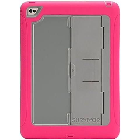 Griffin Survivor Slim–Funda para New iPad Air 2, color rosa/gris