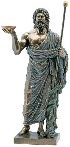 Äskulap Hippokrates, Gott der Heilkunst Figur Aesculap Skulptur Aeskulap Statue (Heilung Figuren)