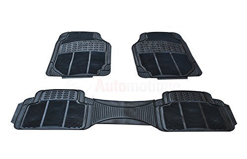 AUTOMOTIQUE universalfloorMATRUB2403 (2 X Clip) Tailored Heavy Duty 3 Piece Rubber Car Set Universal