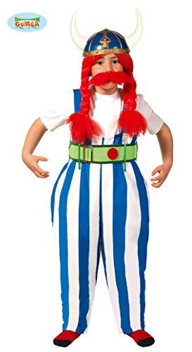 Kostüm Kind Asterix - Guirca Dicker Soldat aus Gallien Kostüm für Jungen Gr. 110-146, Größe:128/134